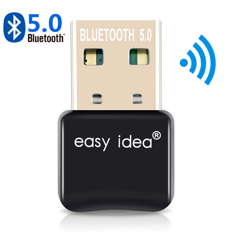 Adapter USB Bluetooth 5.0 wtyczka Bluetooth 5.0 nadajnik odbiornik Bluetooth Mini Audio przejściówka do komputera PC Laptop Music