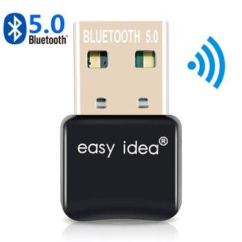 Usb bluetooth 5.0 adaptador bluetooth dongle 5.0 transmissor bluetooth receptor mini adaptador de áudio para computador portátil música