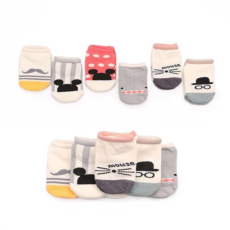 Calcetines de algodón para niños y niñas, calcetín de dibujos animados, suelo suave, 2016