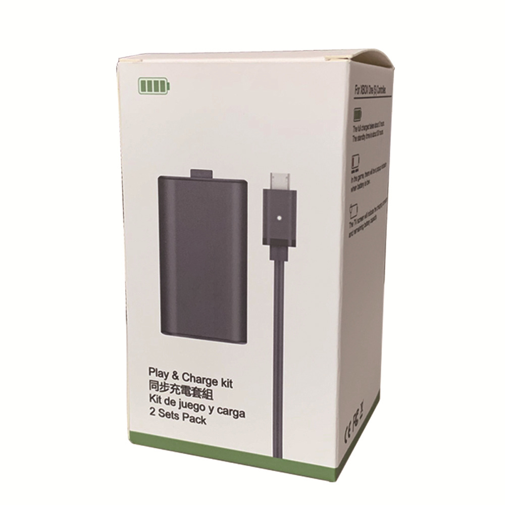 USB Rechargeable Battery Set For XBOX ONE Ones Series Wireless Gamepad Play and Charge kit 1200mA