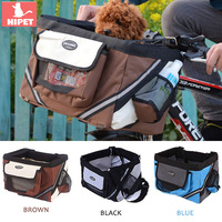 HIPET Dog Bicycle Basket Cat Puppy Bike Carrier Bag With Reflective Stripe Outdoor Travel Bike Carrier Seat For Small Dog