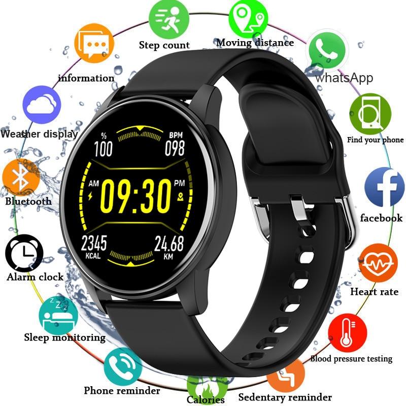 Zl01s Full Touch Screen 1.3 Smart Watch Men Women Blood Pressure Measurement Smartwatch Heart Rater Oxygen Monitor Fashion Watch