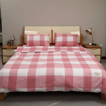 Yimeis Couple Bed Sheet Cotton Duvet Cover Korean Style Comforter Bedding Sets Us King BE47327
