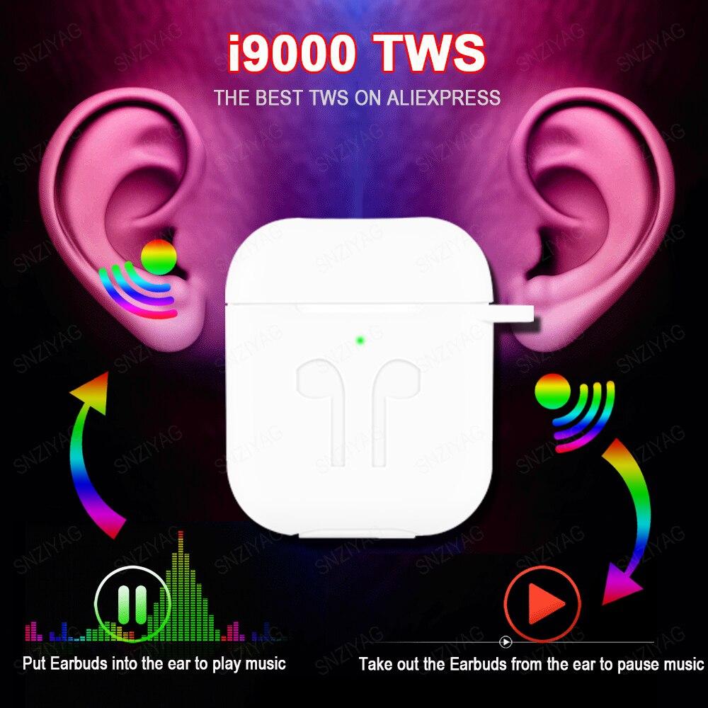 Nova i9000 tws sem fio fone de ouvido ar 2 com ímã reverso caso carregamento bluetooth 5.0 fones pk i500 i2000 i5000 tws