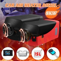 12V 8KW Car Heater LCD Diesel Air Heater Parking Heater Silencer 15L Tank Planar Car Trucks Boat Motorhome With Remote Control