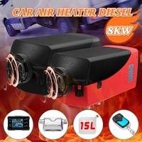 12V 8KW Car Heater LCD Diesel Air Heater Parking Heater Silencer 15L Tank Planar Car Trucks Boat Motorhome With Remote Control