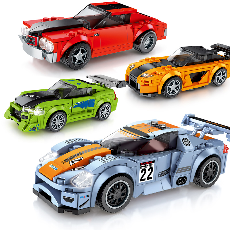 Speed Champions Racing Car  City Vehicles Super Racers Sports Technic Model Building Blocks Set Toys