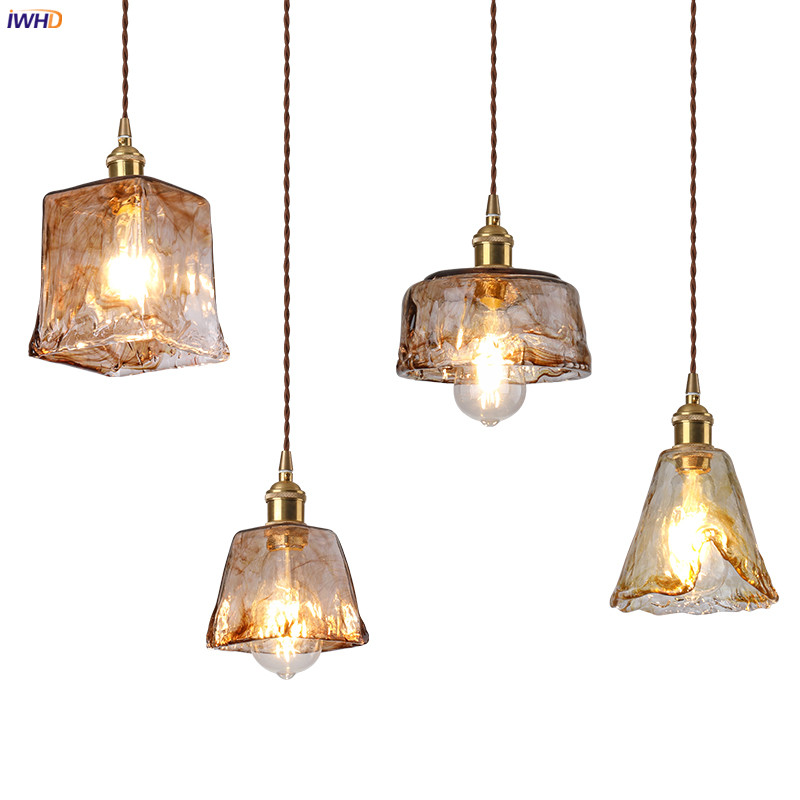 Iwhd Nordic Style Gl Copper Pendant