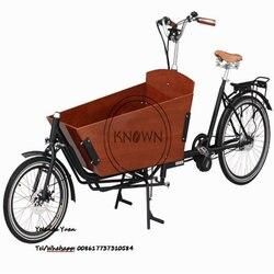 6/7 prędkości pedał dwa koła drewniane duże pudełko holenderski Cargo Bike/nie elektryczny Bakfiet dla dorosłych towarów kurierskich trójkołowy w Roboty kuchenne od AGD na