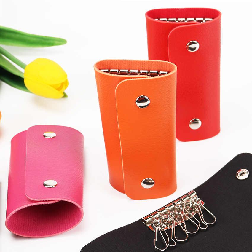 高品質ユニセックス女性男性 Pu レザー財布車多機能キーケースホルダー