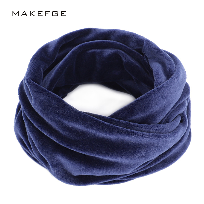 Fashion Solid Color Women's Winter Scarf Men And Women Velvet Warm Scarf High Quality Outdoor Leisure Bib Autumn And Winter Soft