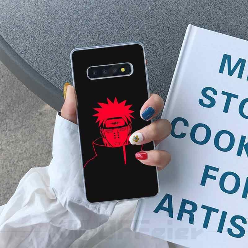 Ivits Naruto dövme yumuşak silikon TPU telefon kapak için Samsung S6 S7 S7edge S8 S8plus S9 S9plus S10 S10 artı E