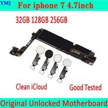 32 ギガバイト 128 ギガバイト 256 ギガバイトiphone 7 4.7 インチマザーボードとid/なしタッチid、プレートオリジナルロック解除iphone 7 メインボード