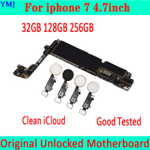 32GB 128GB 256GB for iphone 7 4.7inch Motherboard with Touch ID/without Touch ID,Plate Original unlocked for iphone 7 Mainboard