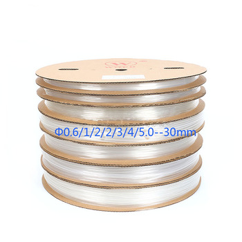 Free fast shipping 100M/1Roll Rohs 2:1 cable sleeve 12/15/16/18/20MM Heat Shrinkable Tube shrink sleeve Wire transparent