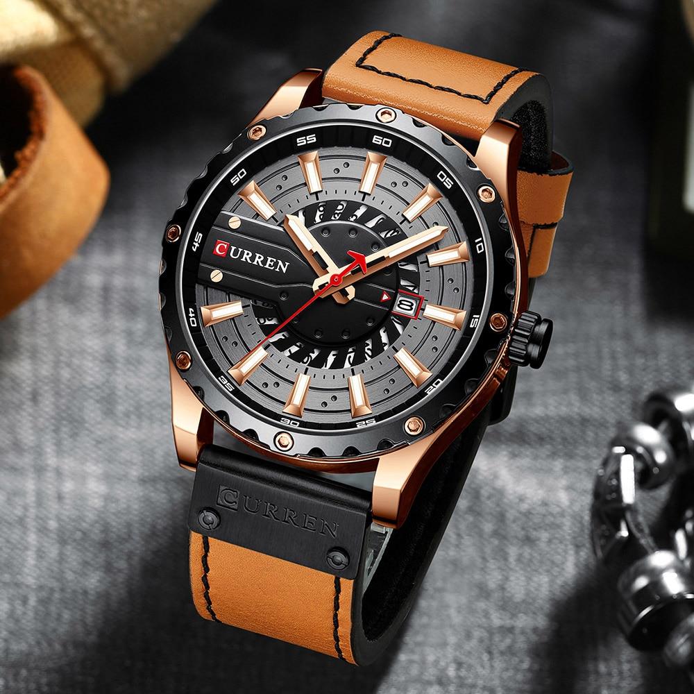Hb30d9686dea84b698fbb4096f118ee4ai CURREN Watch Wristwatch  New Chic Luminous hands