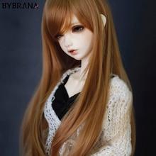 Bybrana модный стиль ярмарка Размер 1/3 1/4 BJD SD парики MSD длинные коричневые высокотемпературные волокна волос для кукол аксессуары