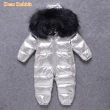 Romper Jumpsuit Down-Jacket Russian Baby-Girl Winter New-Born Infant Boy for Snow-Wear