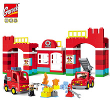 Legoingly Firefighting Series Fire Department Fire Truck Building Blocks Set Compatible With Duplo Children's Bricks Toy Gift недорого