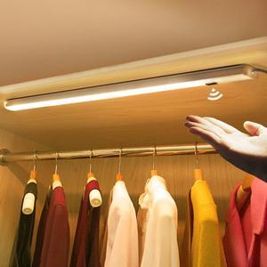 Image 5 - Hand Wave Control Kitchen Lights LED Bar Light Closet Wardrobe Bar LED Lamp 30/50cm Motion Sensor Hand Scan Sweep Kitchen Lights
