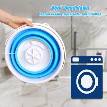 Minimáquina de lavado de ropa automática, lavamanos portátil, plegable, en Stock 1
