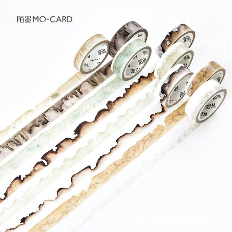 1pack/lot Vintage Paper Edge Series Boxed Tape Handmade Account  Decoration Materiais Escolares Washi Tape Cute Stationary