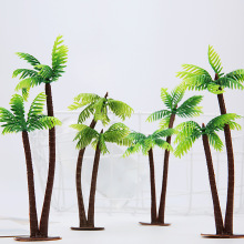 YOOAP  Mini Scenery Landscape Model Simulation Coconut Palms Tree Home Decor Ornaments Plastic Palm