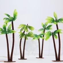 YOOAP  Mini Scenery Landscape Model Simulation Coconut Palms Tree Home Decor Ornaments Plastic Coconut Palm Tree