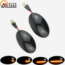 цена на 2 pieces Dynamic Sequential Flowing LED Turn Signal Side Marker Indicator Blinker For Ford Transit Tourneo MK6 MK7 2000-2014
