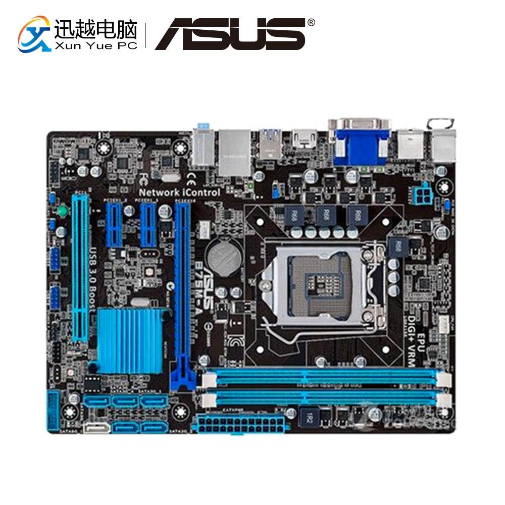 Asus B75M-A Desktop Motherboard B75 Socket LGA 1155 For I3 I5 I7 DDR3 16GB SATA3 USB3.0 HDMI Micro ATX Original Used Mainboard