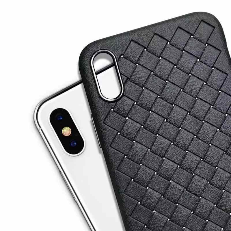Fundas de teléfono de Color suave de lujo para iPhone 7 8 6 6s plus X XS max XR funda a prueba de golpes TPU cubierta trasera de ventilación de silicona Capa