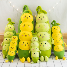 Stuffed Doll Plush-Toy Plant Vegetable Squishy Soft Long Cartoon Cute Green Ultra Pea