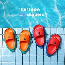 Letnie rekiny dziecięce kapcie tęczowe buty dla dzieci maluch dziecko na zewnątrz EVA nadruk kreskówkowy śliczne płaskie obcasy plażowe sandały tanie tanio Damsko-męskie 13-24m 25-36m 7-12y 12 + y 15cm 16cm 17cm 18cm 19cm 20cm 21cm 22cm CN (pochodzenie) Lato Dobrze pasuje do rozmiaru wybierz swój normalny rozmiar