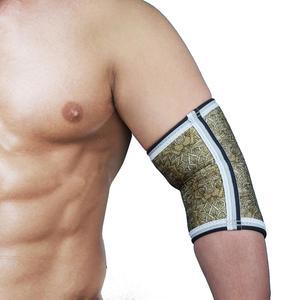 Image 3 - ROEGADYN erkekler kas 5mm neopren dirsek koruyucu kovan destek halter dirsek Brace, spor salonu güç desteği