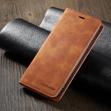 Funda de teléfono magnética de lujo para negocios para Samsung Galaxy A20, A30, A40, A50, A60, A70, con ranura para tarjetas, con soporte, BILLETERA, Coque, etui