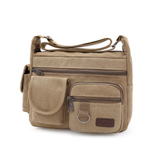 Canvas Shoulder Bags Men Women Multifunction Office School Crossbody Bag High Quality Waterproof Vintage Messenger Pack H005 стоимость