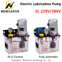 3L CNC Fully Automatic Lubrication Pump PLC Electric Oil Pump 220V 380V Thin Oil Grease Injector For Injection Machine NEWCARVE