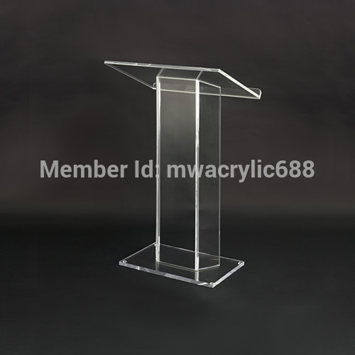 Free Shipping Soundness Modern Design Cheap Acrylic Lectern Podium Plexiglass