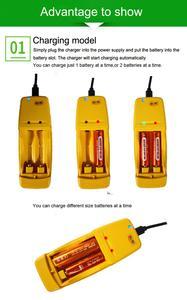 Image 5 - كفاءة عالية للطاقة وانخفاض التفريغ الذاتي قابلة للشحن 1.6 فولت AA AAA Ni Zn البطارية مع 2 طريقة شاحن بطارية ذكي