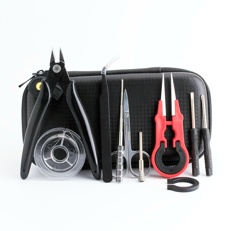Coil Father Mini Vape Tool Kit Bag Tweezers Pliers Wire Vape Band Coil Jig Cotton DIY For Electronic Cigarette Accessories