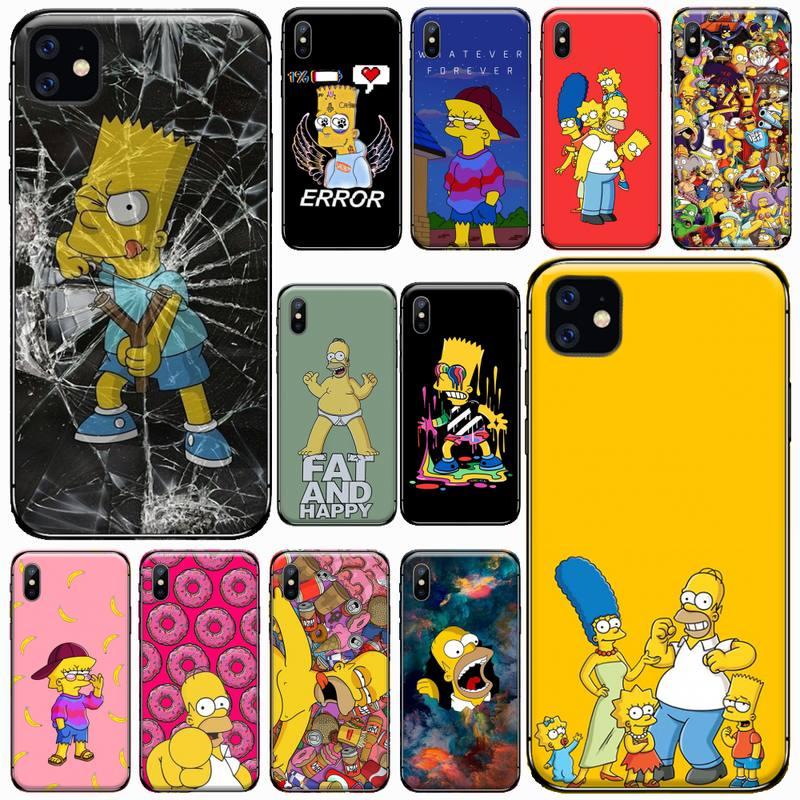 Funny Homer fashion J-SImPsoN cartoon Phone Case For iphone 7 8 12 11 XR XS pro Max Mini plus Soft silicone cover shell funda