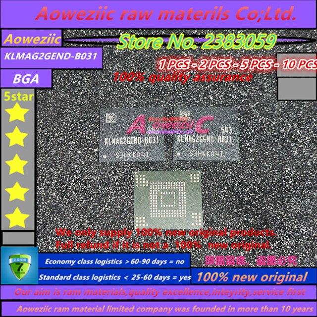 Aoweziic  100% new original    KLMAG2GEND B031 BGA  memory EMMC 16G memory  KLMAG2GEND B031