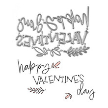 DiyArts Word Dies Happy Valentines Day Metal Cutting New 2019 for Card Making Scrapbooking Cuts Decor Stencil Craft