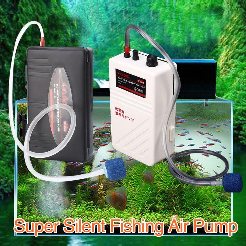 Fishing Air Pump Aquarium Aerator DC800 Quiet Bait Fresh Portable For Oxygenated Live Fish Tank