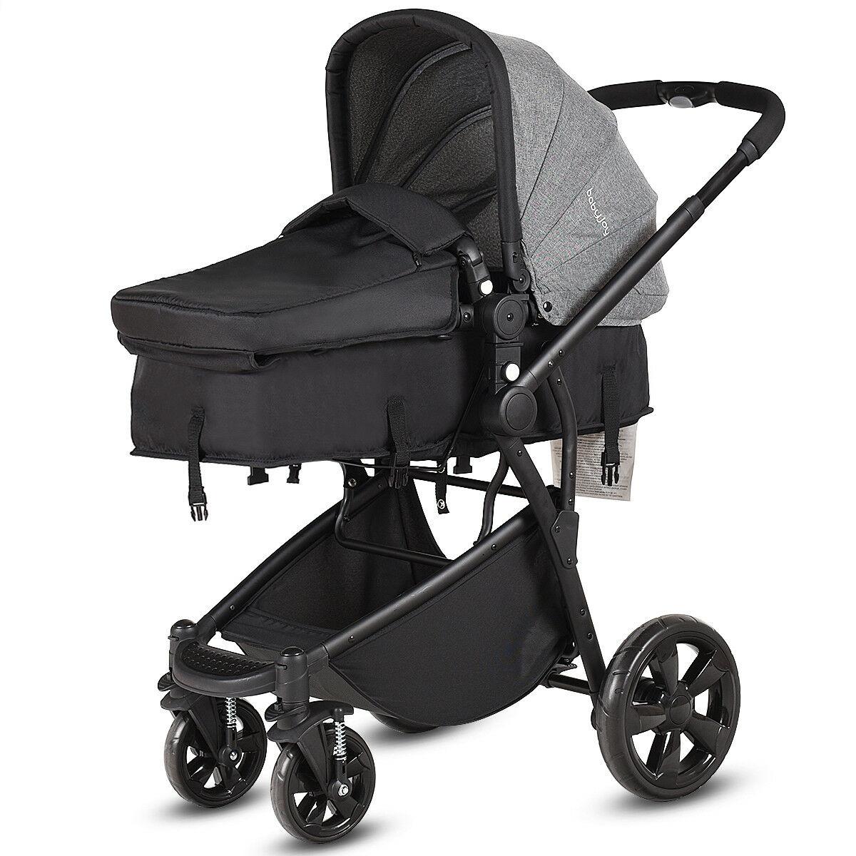 Black 2 in 1 Baby Stroller