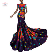 Женское платье без рукавов с принтом в африканском стиле Длинные