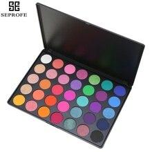 2017 Professional New 35 Color Eyeshadow Palette Shimmer Matte Beauty Make up Pallete Set Smoky Eye shadow Makeup Kit E стоимость