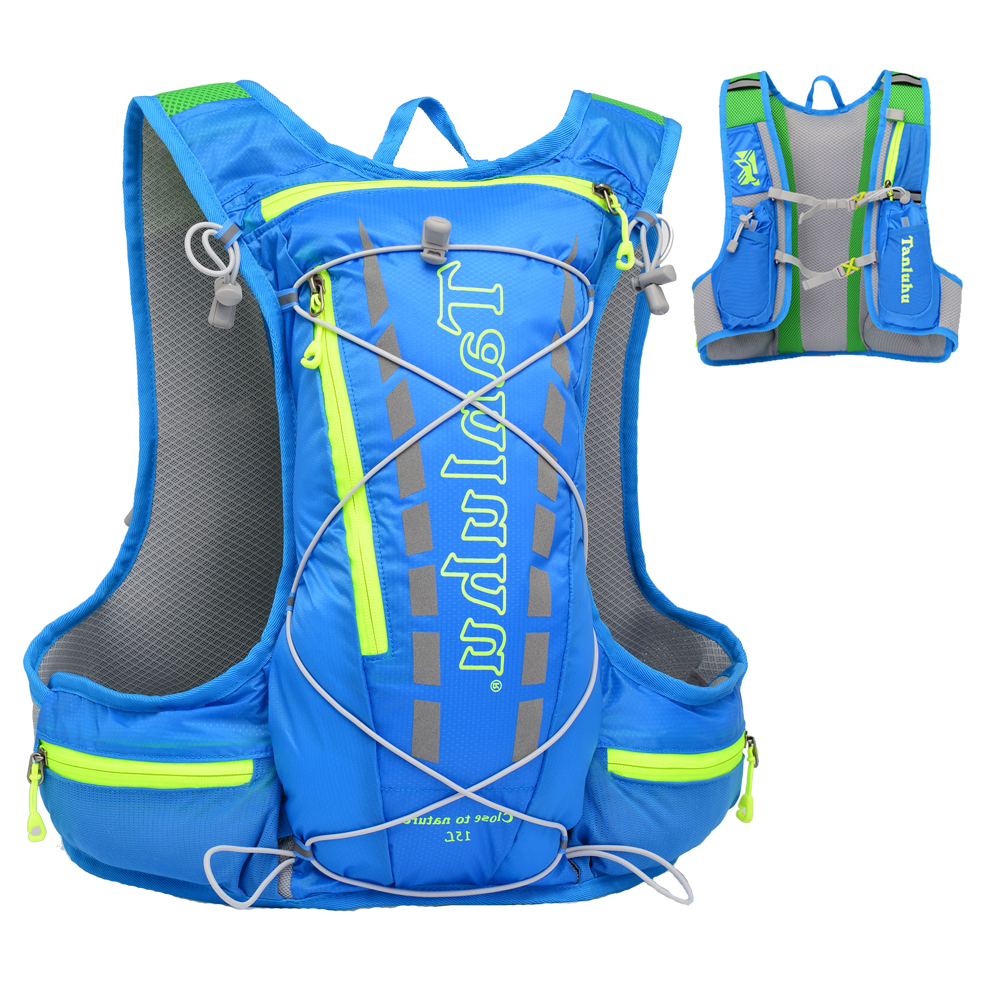15L Outdoor Marathon Hydration Pack Backpack Reflective Running Hydration Vest For Hiking Cycling Climbing SB0033