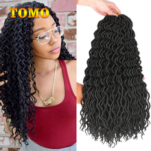 Hair-Extension Braids-Hair River-Locs Goddess Curly Crochet Synthetic 18inch Soft Ombre