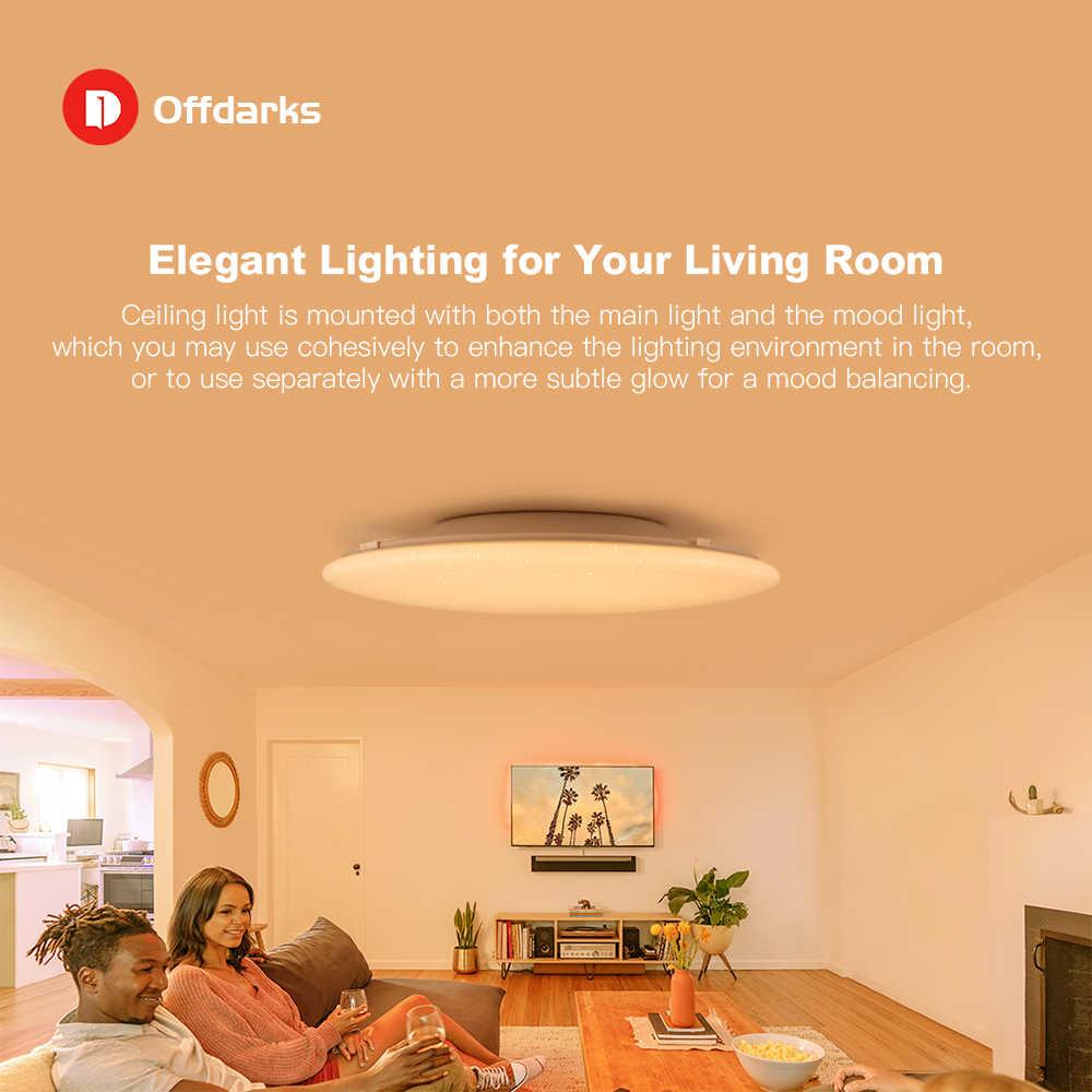 OFFDARKS nowoczesne LED inteligentne oświetlenie sufitowe WiFi / APP inteligentne sterowanie lampa sufitowa RGB ściemniania 36W / 48W / 60W / 72W